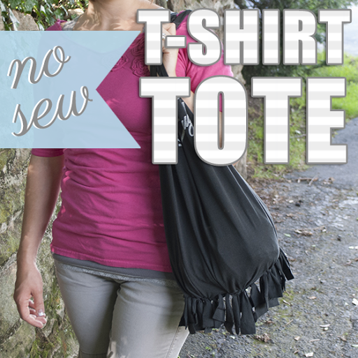 Upcycled T-shirt: No-Sew Tote